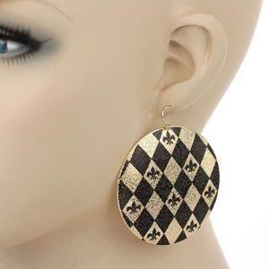 Accessories - SAINTS SALE!! Fleur De Lis Earrings New Orleans⚜️